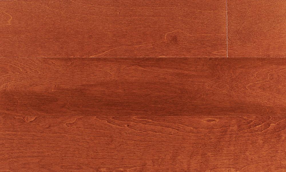 Plancher encliquetable, bois d'ingénierie, 4 7/8 po de large, Bouleau Clearwater, 25,83 pi2/boîte