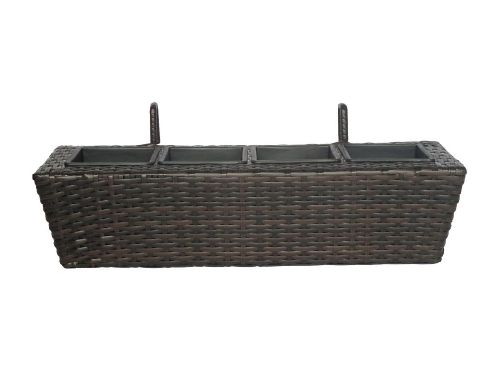 Hampton Bay 24-inch Wicker Balcony Box
