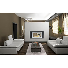 Montreal 2-Sided Fireplace in Black