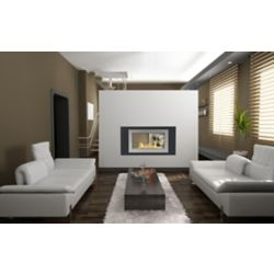 Eco-Feu Montreal 2-Sided Fireplace in Black