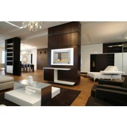 Eco-Feu Montreal 2-Sided Fireplace in White