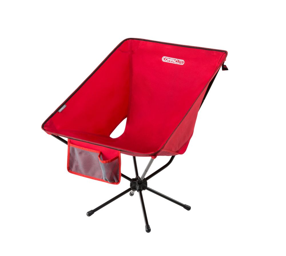 THD Compaclite Oversized Steel Camping Chair in Red