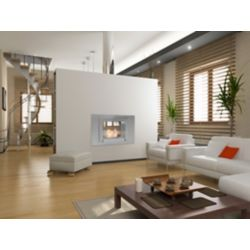 Eco-Feu Wellington 2-Sided Fireplace in Stainless