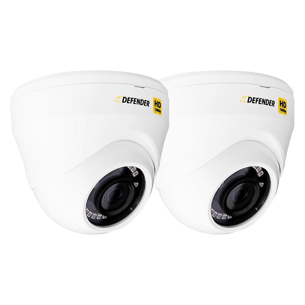 Ensemble de 2 caméras de sécurité dôme Defender<sup>®</sup> HD 1080p pour intérieur/extérieur