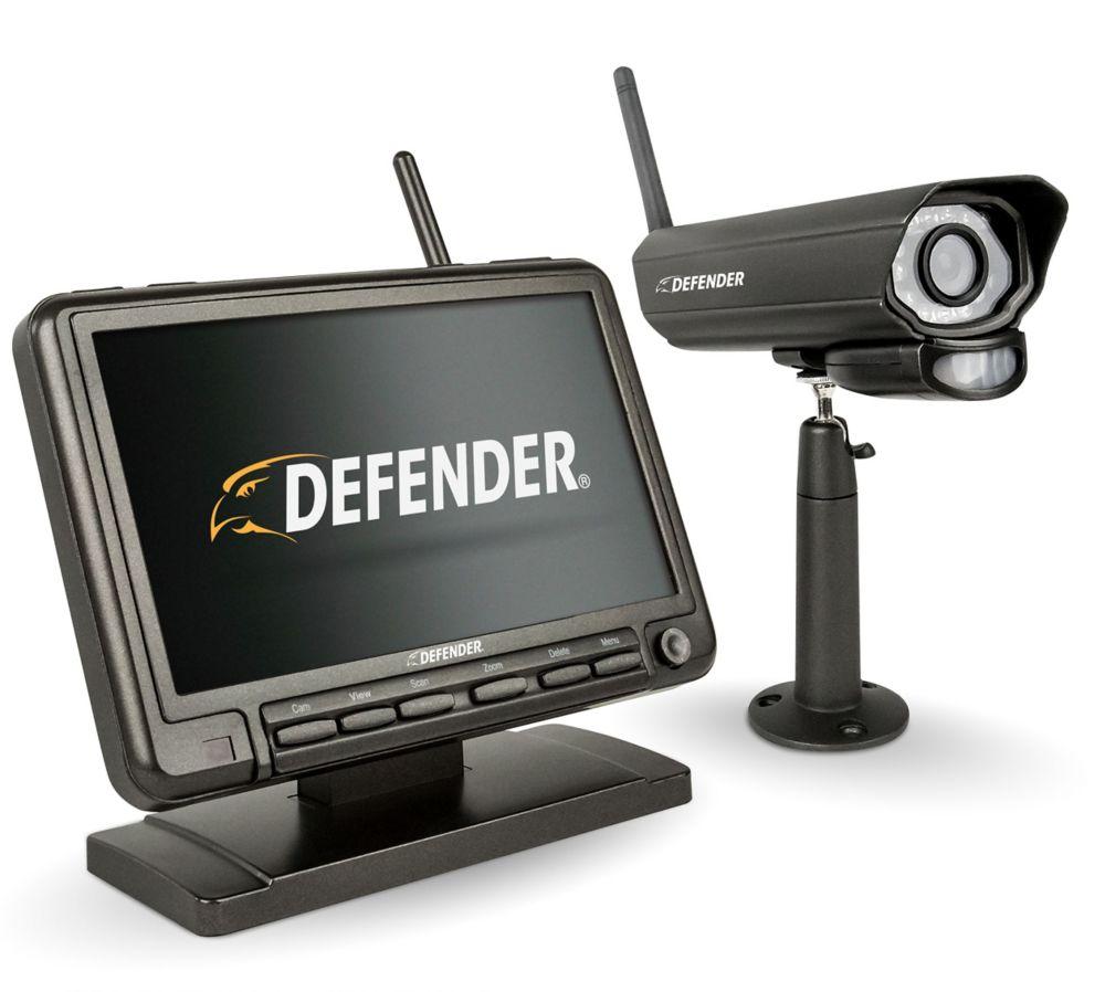 Defender 7-inch Digital Wireless Monitor Home Security DVR & Night Vision Camera