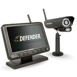 Defender 7-inch Digital Wireless Monitor Home Security DVR & Night Vision Camera