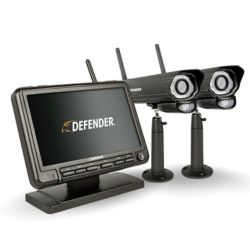 Defender PHOENIXM2 Digital Wireless 7-inch Monitor DVR Security System with 2 Night Vision Cameras