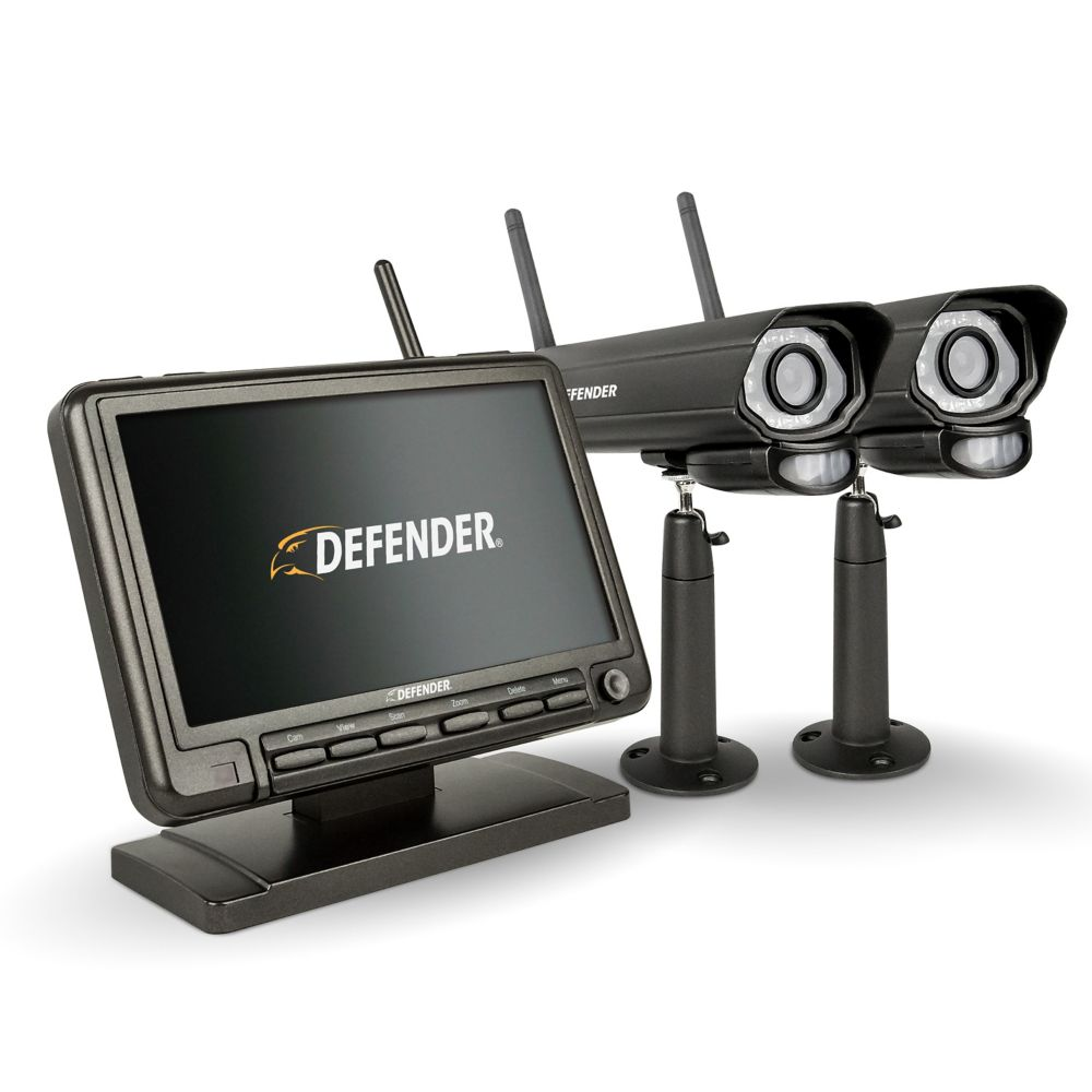 Security cameras systems the home depot canada phoenixm2 digital wireless 7 inch monitor dvr security system with 2 night vision cameras solutioingenieria Choice Image