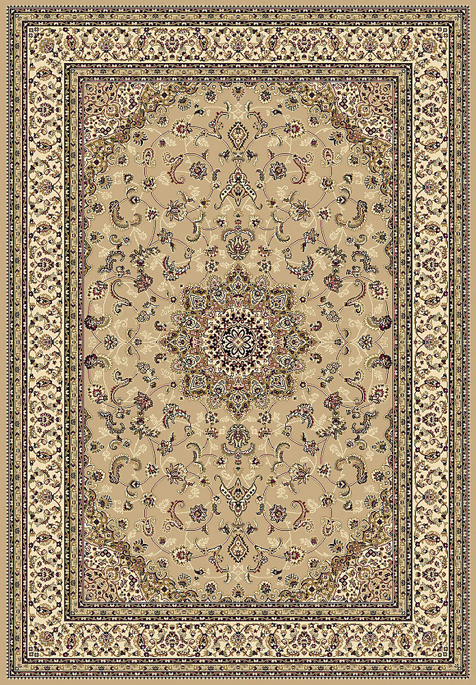 Imperial Beige Tan 5 ft. 3-inch x 7 ft. 4.6-inch Indoor Traditional Rectangular Area Rug