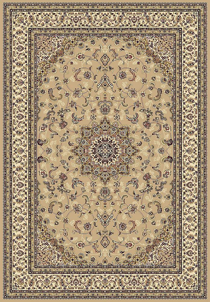 Carpette d'intérieur, 7 pi 10,5 po x 9 pi 11,7 po, style traditionnel, rectangulaire, havane Imperial