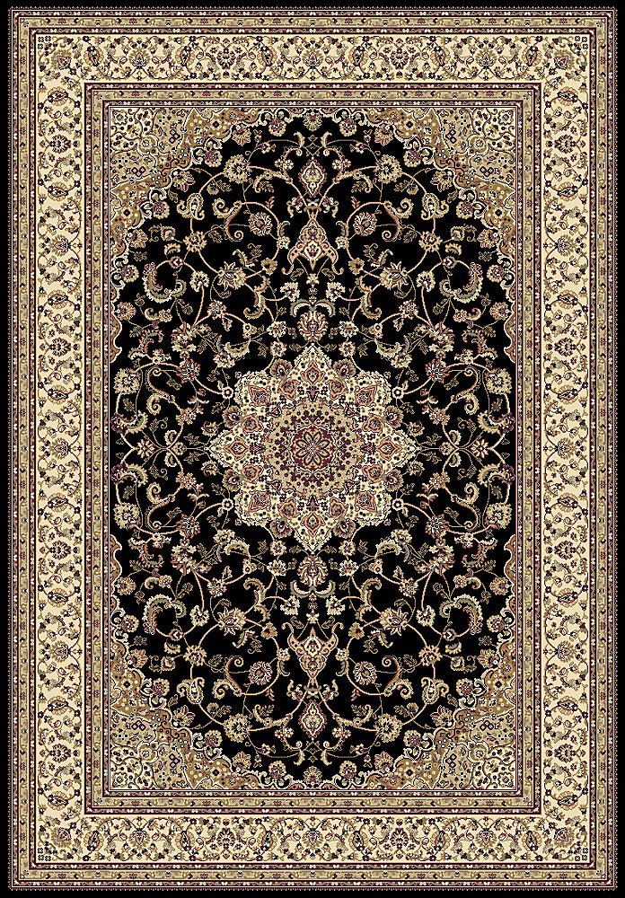 Imperial Black 7 ft. 10.5-inch x 9 ft. 11.7-inch Indoor Traditional Rectangular Area Rug