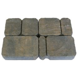 Cindercrete Old Town Paver in Charcoal/Tan