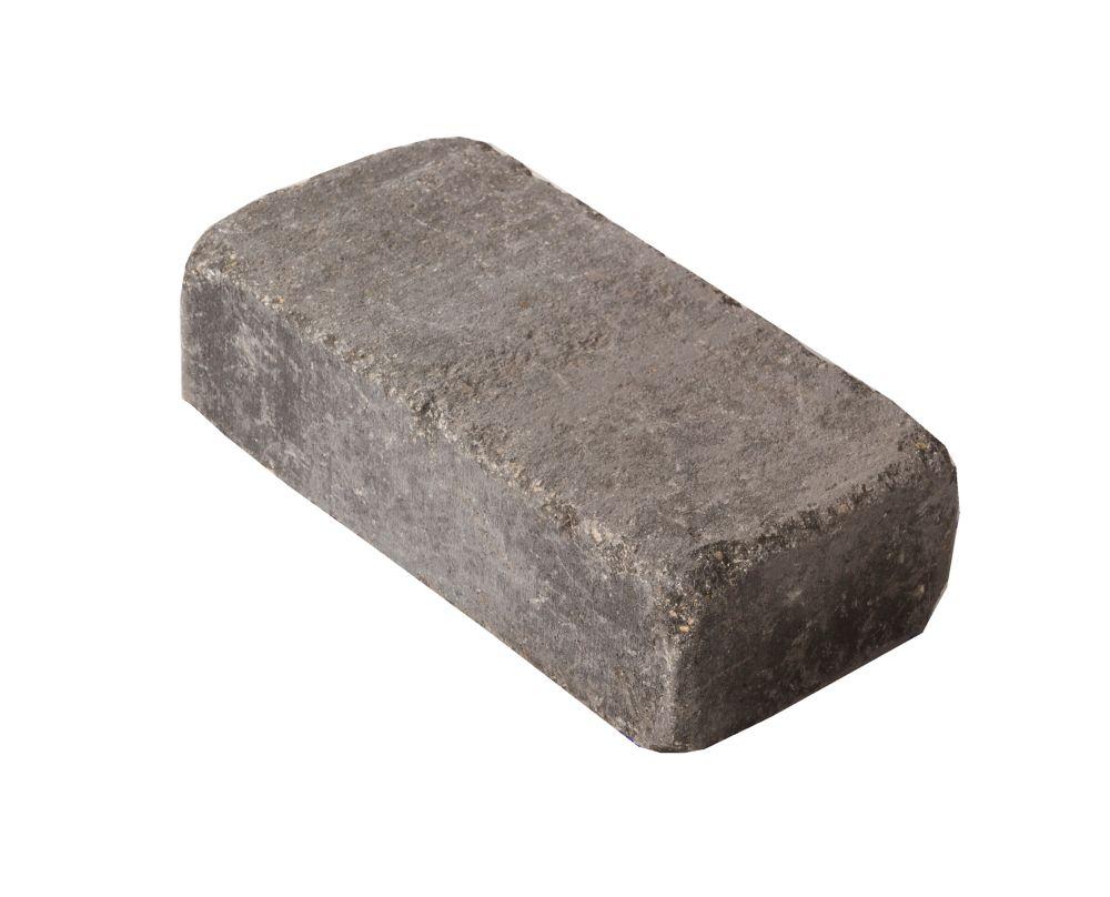 barkman concrete ltd. 8-inch x 4-inch Roman Paver in Charcoal