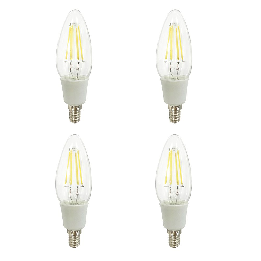 Ecosmart ECS LED 40W Candelabra DM Clear  DL 4pk-QP