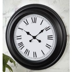 Home Decorators Collection 22-inch Roman Numeral Wall Clock with Black Frame