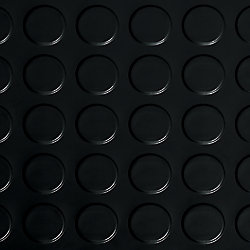 G-Floor 7,5 x 17pi – Revêtement protecteur à relief pastilles G-Floor de qualité commerciale, noir minuit