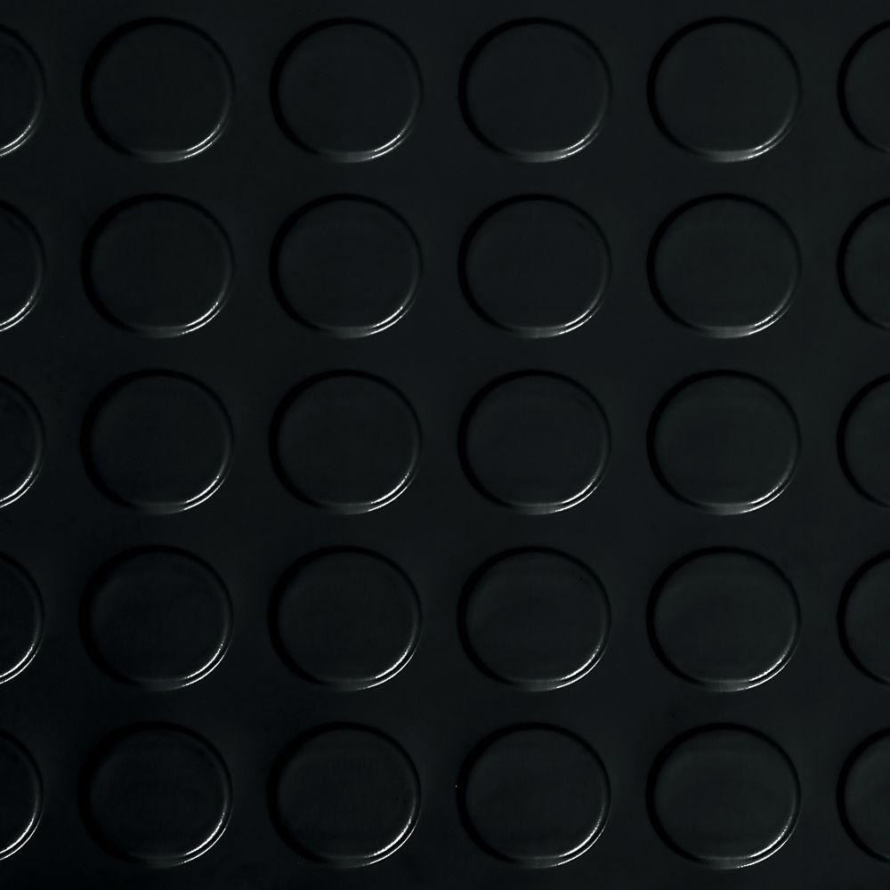 7,5 x 17pi � Revêtement protecteur à relief pastilles G-Floor de qualité commerciale, noir minui...