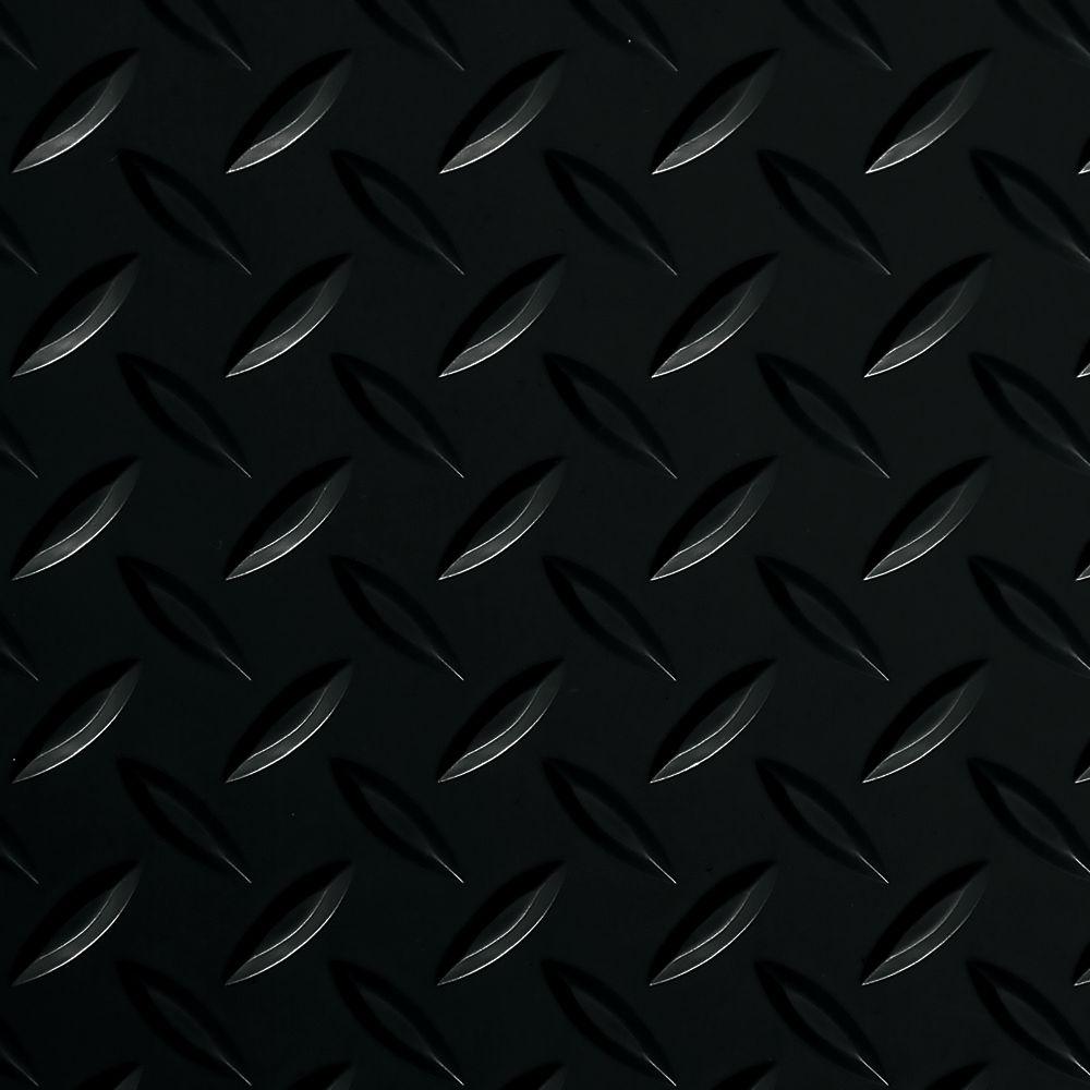 7,5 x 17pi � Revêtement protecteur larmé G-Floor de qualité commerciale, noir minuit