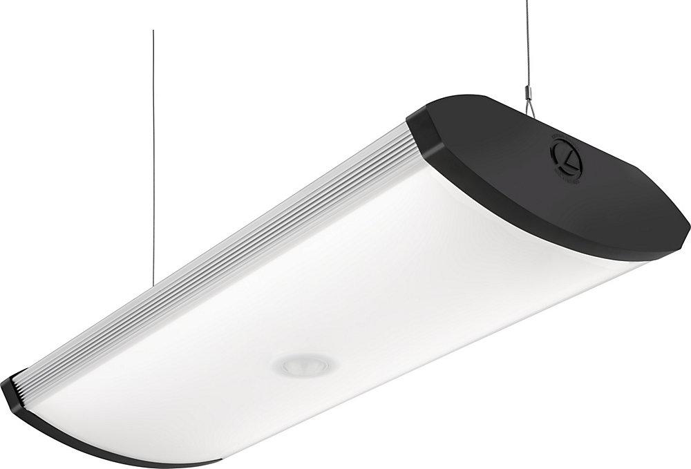 2 ft  Black Indoor LED Garage Light with Integrated Motion Sensor - ENERGY  STAR®