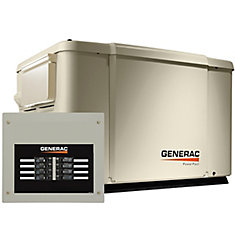 7500 Watt (Lp) / 6000 Watt (Ng) Generac Standby Generator With Automatic Transfer Switch