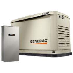 Generac 9000W LP/ 8000W NG Air Cooled Standby Generator with Automatic Transfer Switch and Wi-Fi