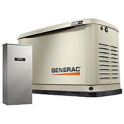Generac Générateur de secours 16000W LP / NG avec 16 circuits Interrupteur de transfert 100 Amp et Wi-Fi