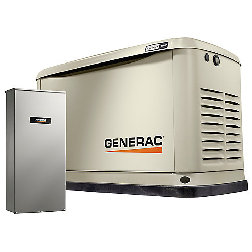 16000W LP/NG Air Cooled Standby Generator w/ 16 Circuit 100 Amp Transfer Switch & Wi-Fi