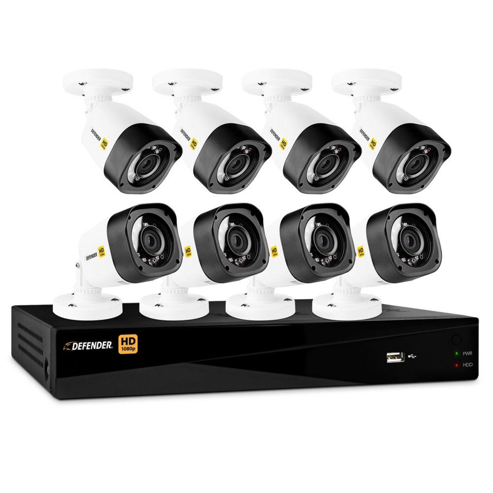 Système de sécurité Defender<sup>®</sup> HD 1080p 16 canaux 2 To DVR avec 8 caméras bullet
