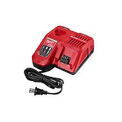 Milwaukee Tool Chargeur de batterie rapide multi-tension au lithium-ion M12 et M18 12V/18V lithium-ion