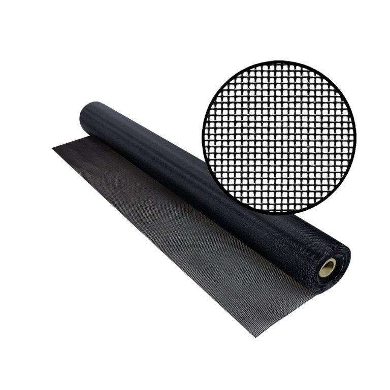 "TuffScreen No-See-Um noir 72"" x 100'"
