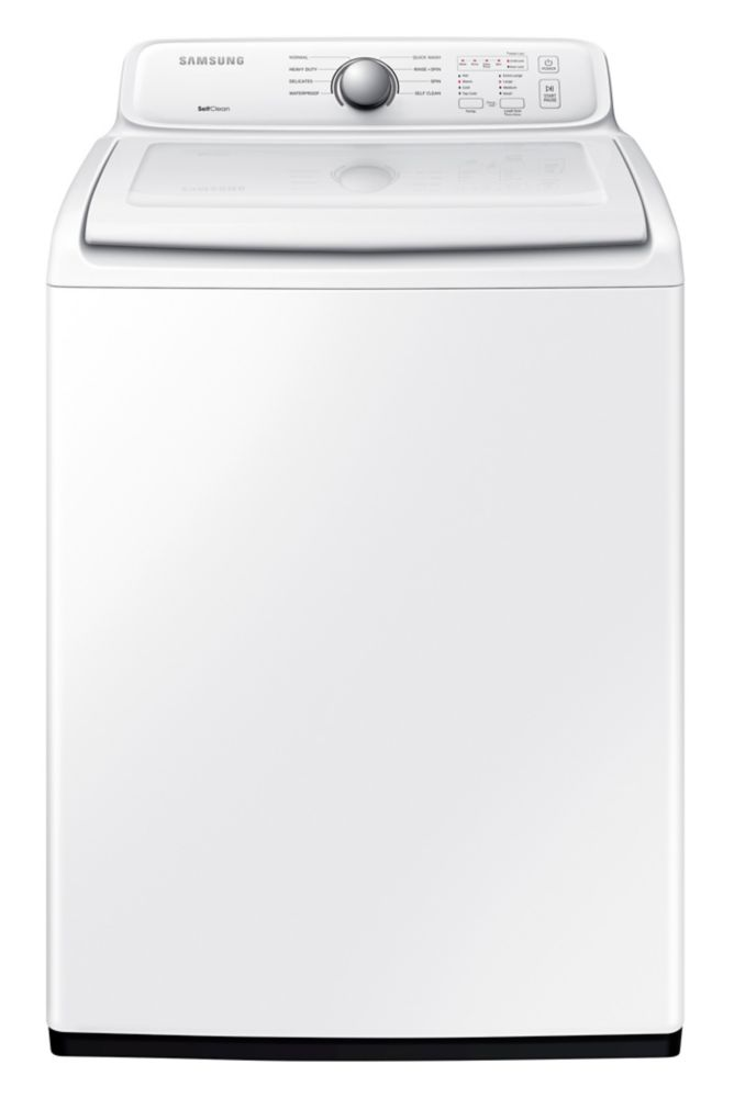 Samsung 4.9 Cu.Feet White Top Load Washer -WA40J3000AW