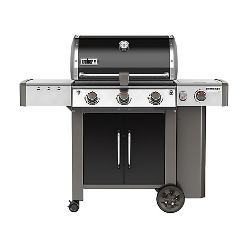 Genesis II LX E-340 3-Burner Liquid Propane BBQ in Black