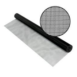 "Phifer SeeVue en acier noir inoxydable 48"" x 100'"