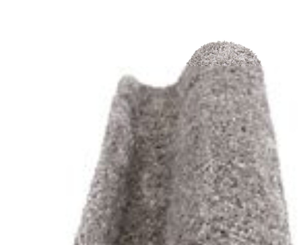 Home Decorators Collection Ligth Grey 6ft. x 9ft. Deluxe Shag Area Rug