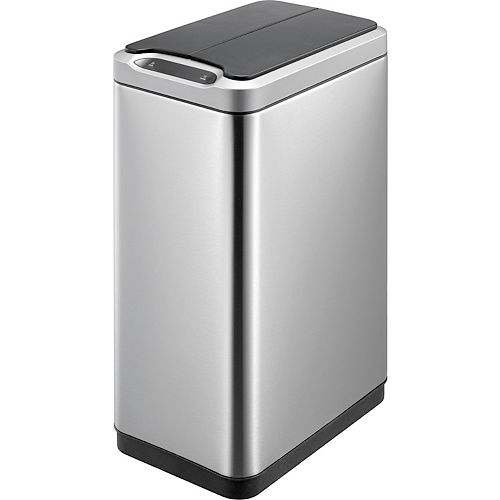 HDX Motion Sensor Trash Can in Stainless Steel