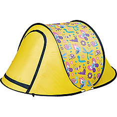 Kids Pop-Up Backyard Camping & Sleepover Tent in Yellow