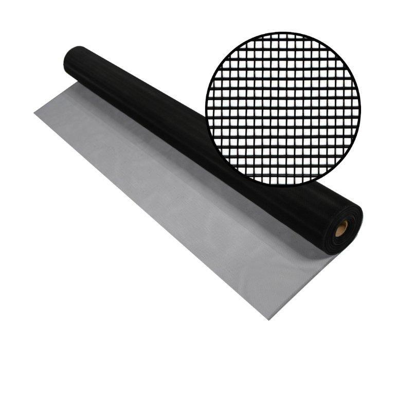 """Moustiquaire noire en aluminium 48""""x50'"""