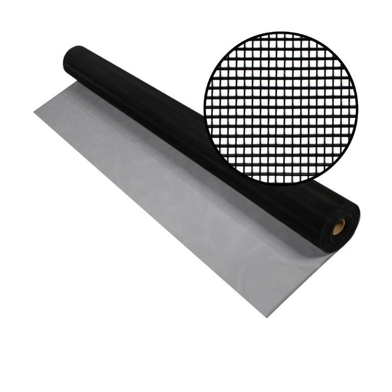 """Moustiquaire noire en aluminium 72""""x100'"""