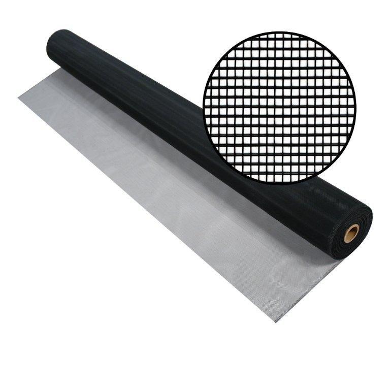 """Moustiquaire en aluminium charbon 72"""" x 100'"""