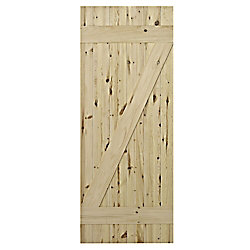 Colonial Elegance Pine Cellar Door Weathered Style 1 Inch  X 33 X 84 Inch