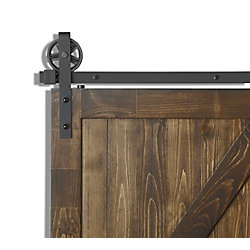 Colonial Elegance Wagon Rail System Matt Black With Large Wheels 78 Inch