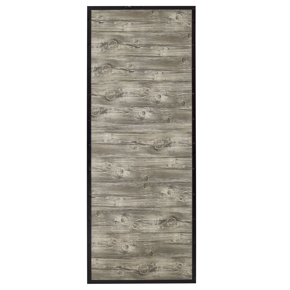Shack Reclaimed Style Wood And Steel 1 Inch  X 37 X 84 Inch