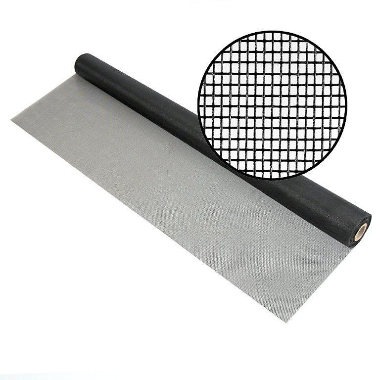 """Moustiquaire en fibre de verre charbon 84""""x100' Treillis 18x14"""
