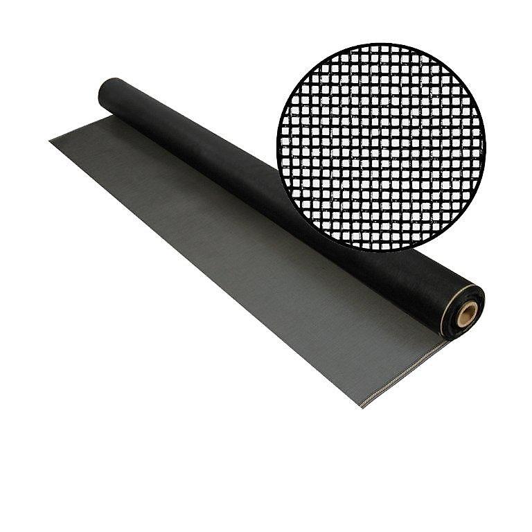"""Moustiquaire en fibre de verre charbon  84""""x25' Treillis 20x20"""