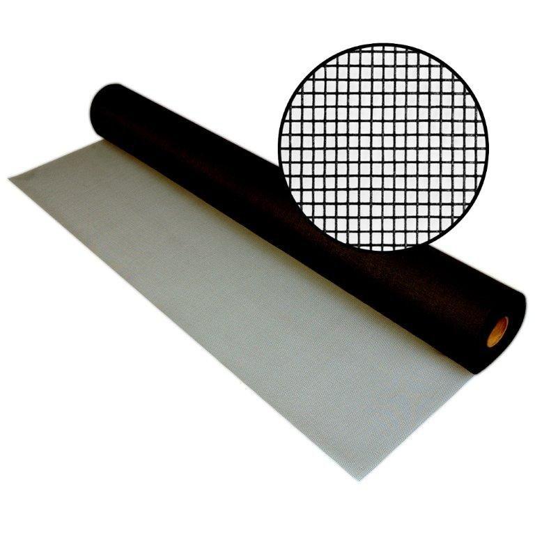 """Moustiquaire en fibre de verre charbon 72"""" x 100' en boîte"""