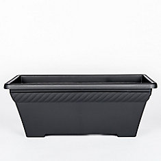27-inch Rope Planter in Black