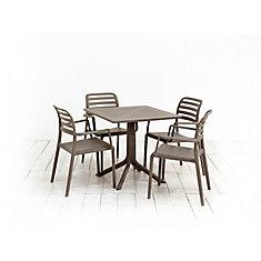 La table Nardi Clip (Costa) et les 4 fauteuils Costa (Costa)