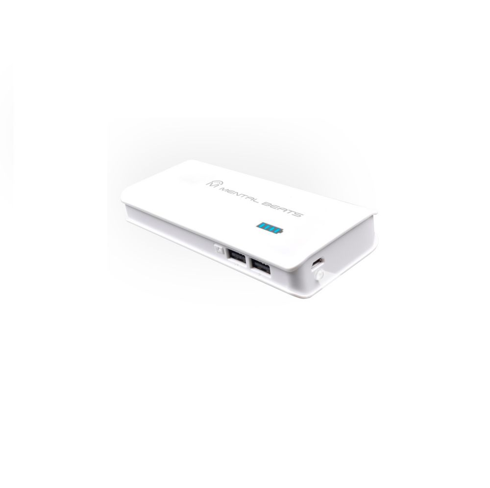 10,000mAh Power Bank - White