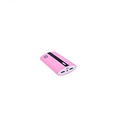 6.6 Ap Universal Dual Usb Port Power Bank In Neon Pink