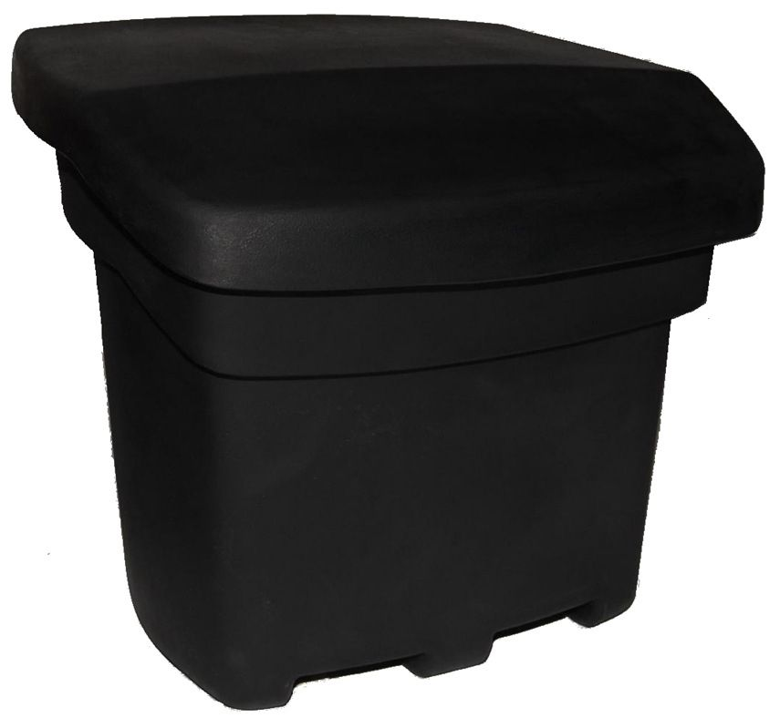 Outdoor Salt, Sand, and Storage Bin - Black